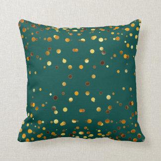 Faux Gold Foil Confetti Elegant Sparkles Cushion