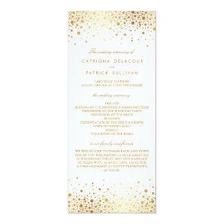 Faux Gold Foil Confetti Elegant Wedding Programs 10 Cm X 24 Cm Invitation Card