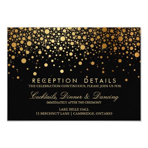Faux Gold Foil Confetti Wedding Reception Card 9 Cm X 13 Cm Invitation Card