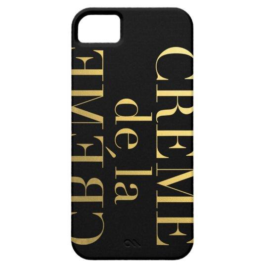Faux Gold Foil Creme De La Creme Black iPhone 5 Cover