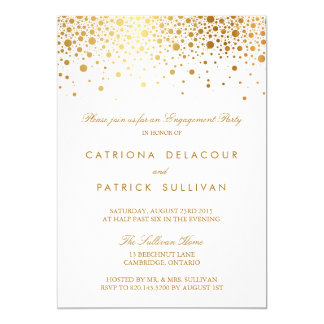 faux gold foil elegant engagement party invitation - Engagement Party Invite