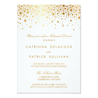 Faux Gold Foil Elegant Rehearsal Dinner Invitation