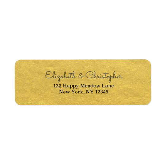 Faux Gold Foil Fancy And Elegant