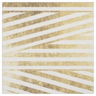 Faux gold foil geometric stripes pattern custom fabric