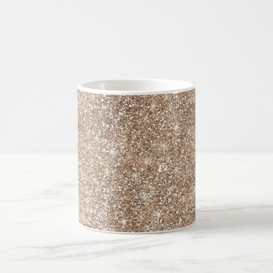 Faux Gold Foil Glitter Background Sparkle Template Coffee