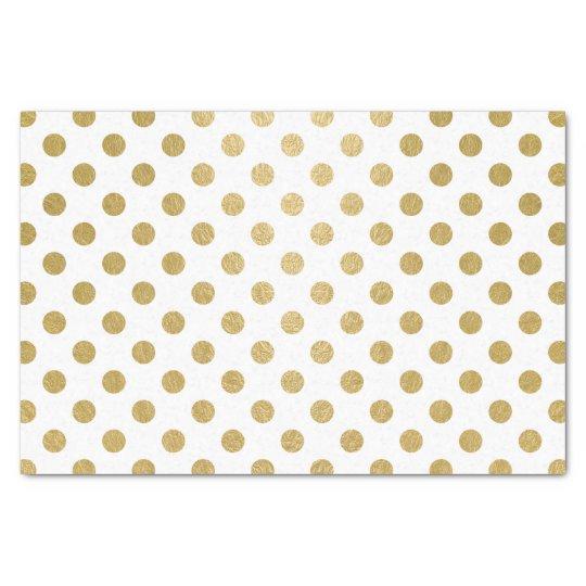 Faux Gold Foil Polka Dots Pattern Tissue Paper