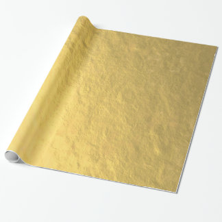 Faux Gold Foil Printed Wrapping Paper