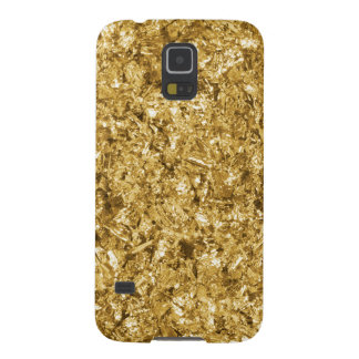 Faux Gold Foil Shavings Sparkle Pattern Case For Galaxy S5