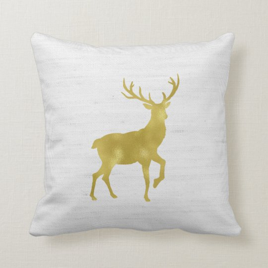 Faux Gold Foil Stag Deer and Antlers on