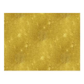 Faux Gold Foil Texture Background Sparkle Template Postcard