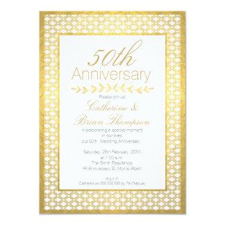 Faux Gold Foil Wedding 50th Anniversary Invitation