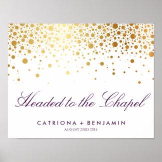 Faux Gold Foil Wedding Poster | Custom Listing