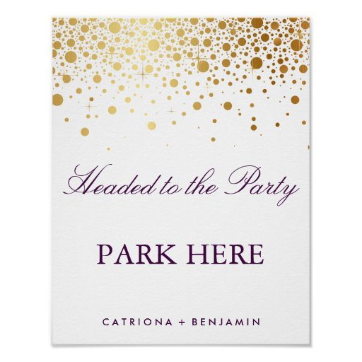 Faux Gold Foil Wedding Poster | Custom Listing