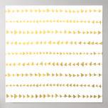 Faux Gold Foil White Arrows Pattern