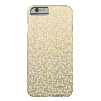 Faux Gold Foil White Circle Fan Pattern Barely There iPhone 6 Case