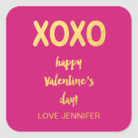 Faux Gold Foil XOXO | Valentine's Day Sticker