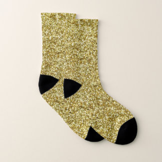 Faux Gold Glitter And Glamour Socks 1