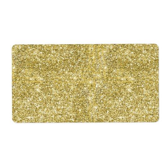 Faux Gold Glitter Background Pattern Sparkle