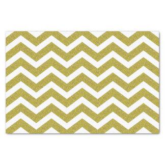 Faux Gold Glitter Chevron Tissue Paper