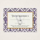 Faux Gold Glitter Damask Floral Pattern Business Business Card