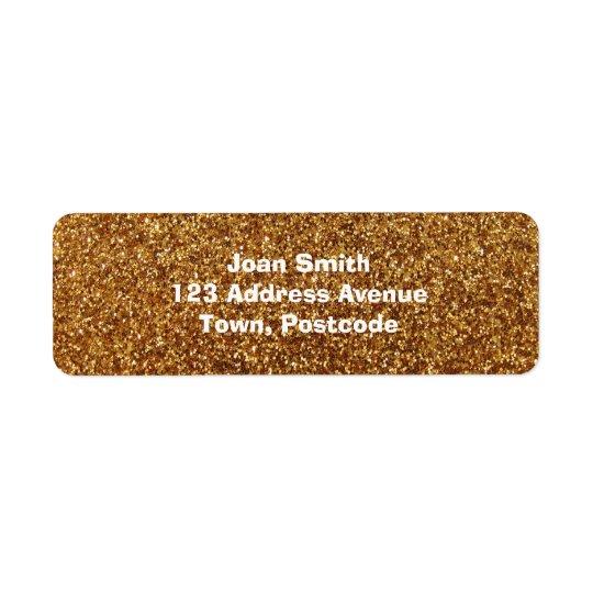 Faux Gold glitter graphic