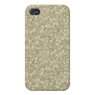 Faux Gold Glitter Cases For iPhone 4