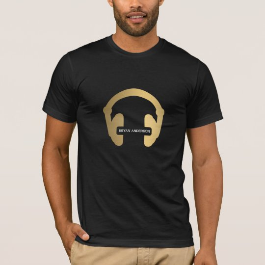 Faux Gold Headphone DJ Shirt