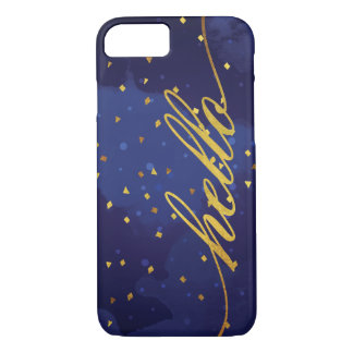 Faux Gold Hello Watercolor iPhone 8/7 Case