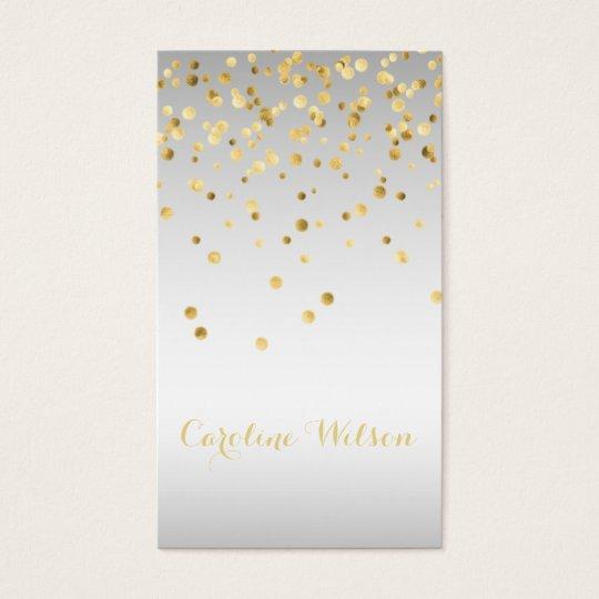 faux gold leaf confetti dots on silver grey
