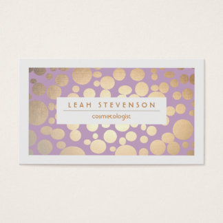 Faux Gold Leaf Cosmetologist Purple Stylist