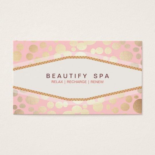 Faux Gold Leaf Look Light Pink Salon Business