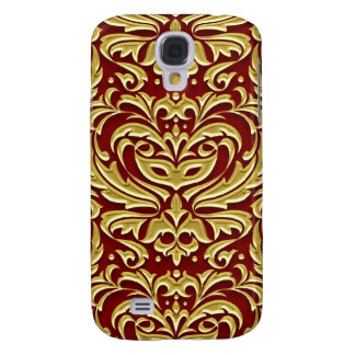 Faux Gold Metal Damask 3g  Galaxy S4 Case