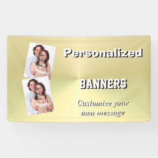 Faux gold metal minimal banner