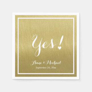 faux gold (ochre) Yes! wedding reception party Disposable Serviette