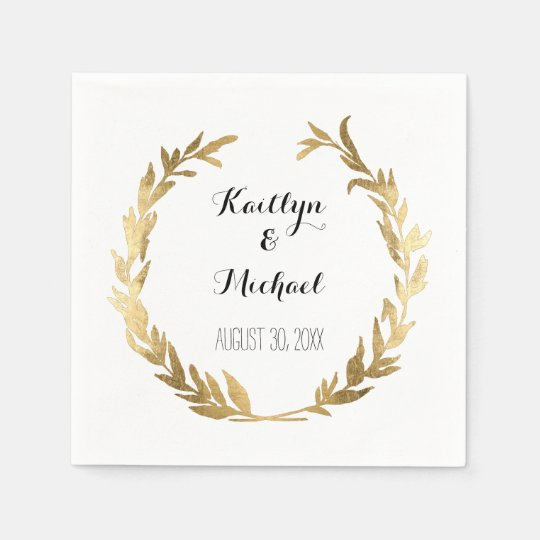 Faux Gold Olive Leaf Laurel Wreath Bride Reception