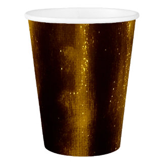 Faux Gold Paint And Glitter On Black Paper Cup