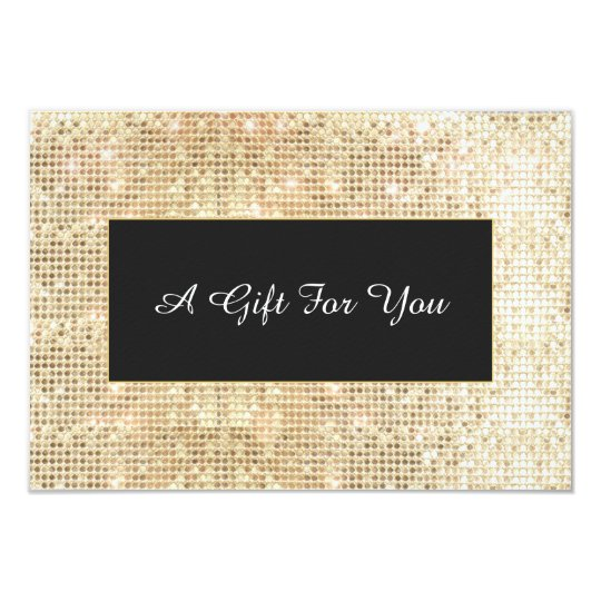 Faux Gold Sequins Spa and Salon Gift Certificate