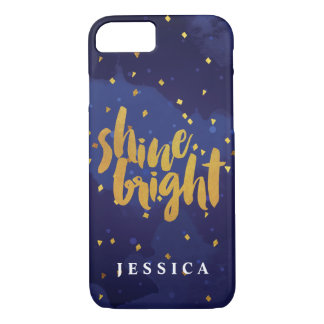 Faux Gold Shine Bright Watercolor iPhone 8/7 Case