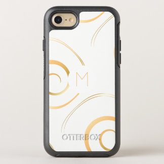 (Faux Gold) Spiral Monogram | OtterBox Symmetry iPhone 8/7 Case