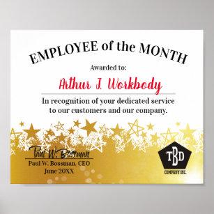 employee month posters prints zazzle uk