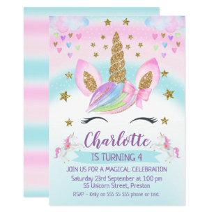 free editable unicorn invitation uk