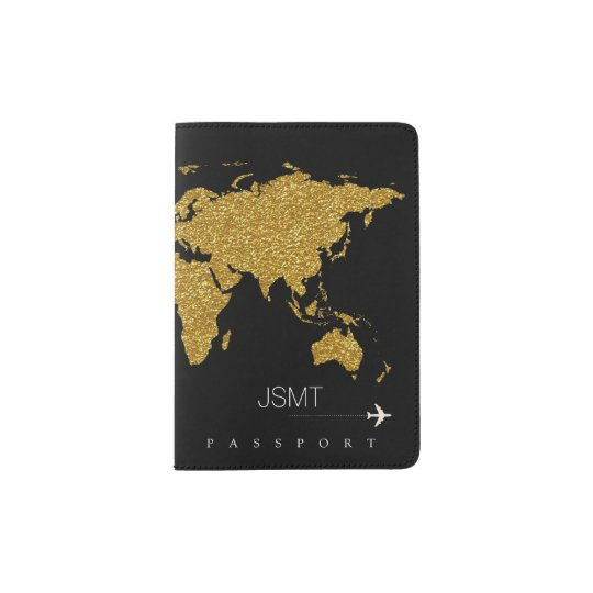 faux gold world map, feminine & modern travel