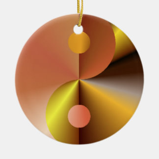 Faux Gold Yin Yang Christmas Ornament