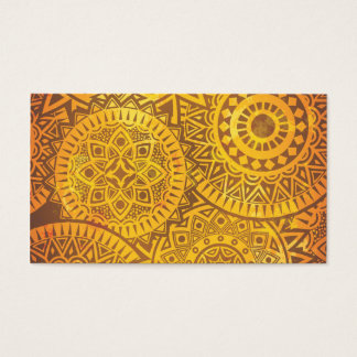 Faux Golden Suns pattern Business Card