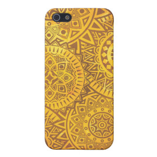 Faux Golden Suns pattern Cover For iPhone 5/5S