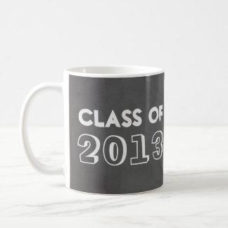 Faux gray chalkboard class year taped up photo basic white mug