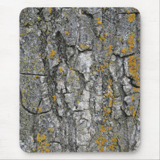 Faux Gray Grunge Wood Tree Bark Mouse Pad