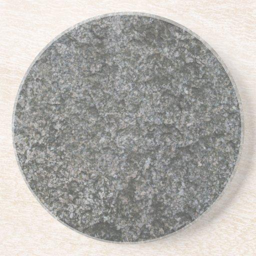 Faux Gray Stone Beverage Coaster
