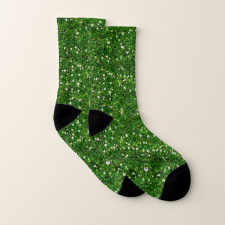 Faux Green Glitter And Glamour Socks 1