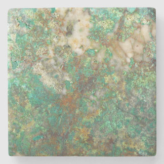 Faux Green Mineral Stone Coaster